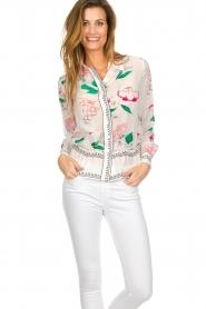 Antik Batik |  Silk blouse Pally | multi  | Picture 2