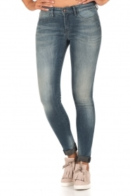 Denham | High waisted skinny jeans Spray Yiv lengtemaat 32 | blauw  | Afbeelding 2