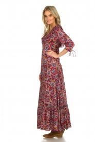Antik Batik |  Dress with print Sam | red  | Picture 4