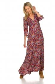 Antik Batik |  Dress with print Sam | red  | Picture 2