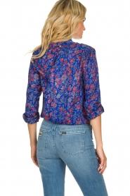 Antik Batik |  Silk floral blouse Silky | blue  | Picture 5