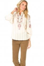 Antik Batik    Embroided cotton blouse Cami   natural     Picture 5