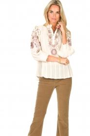 Antik Batik    Embroided cotton blouse Cami   natural     Picture 2