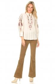 Antik Batik    Embroided cotton blouse Cami   natural     Picture 4