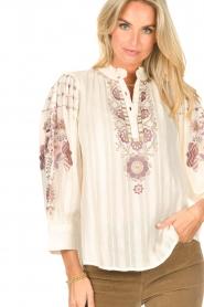 Antik Batik    Embroided cotton blouse Cami   natural     Picture 8