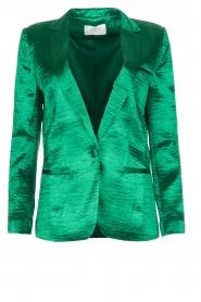 ba&sh | Glanzende blazer Carina | Groen  | Afbeelding 1