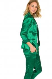 ba&sh | Glanzende blazer Carina | Groen  | Afbeelding 4