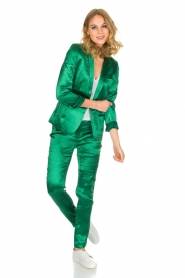 ba&sh | Glanzende blazer Carina | Groen  | Afbeelding 3