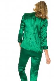 ba&sh | Glanzende blazer Carina | Groen  | Afbeelding 5
