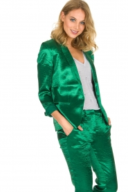 ba&sh | Glanzende blazer Carina | Groen  | Afbeelding 2