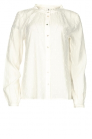 Knit-ted |  Printed blouse Ezra | white  | Picture 1