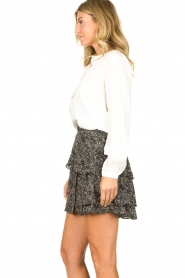 Knit-ted :  Printed blouse Ezra | white - img5