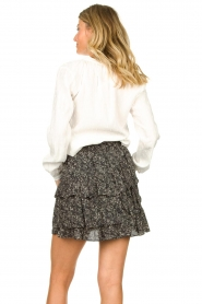 Knit-ted :  Printed blouse Ezra | white - img6