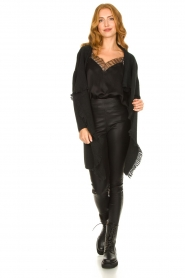 Knit-ted |  Faux leather leggings Amber | black  | Picture 3