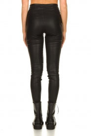 Knit-ted |  Faux leather leggings Amber | black  | Picture 8