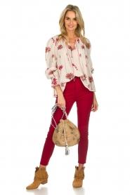 Antik Batik | Blouse met print | rood  | Afbeelding 3