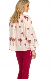 Antik Batik | Blouse met print | rood  | Afbeelding 4