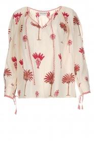 Antik Batik | Blouse met print | rood  | Afbeelding 1