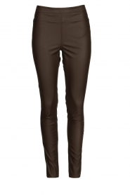 Knit-ted |  Faux leather leggings Amber | brown