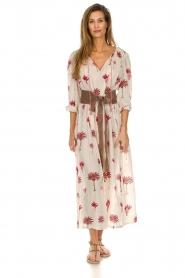 Antik Batik |  Maxi dress with print Palmo | red  | Picture 2