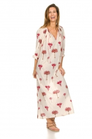 Antik Batik |  Maxi dress with print Palmo | red  | Picture 3