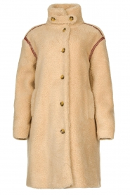 Antik Batik |  Teddy coat with embroided details Sable | brown  | Picture 1