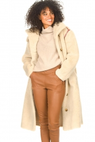 Antik Batik |  Teddy coat with embroided details Sable | brown  | Picture 5