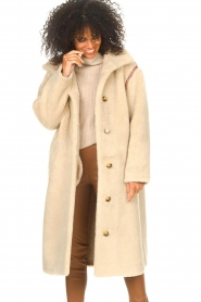 Antik Batik |  Teddy coat with embroided details Sable | brown  | Picture 6