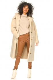 Antik Batik |  Teddy coat with embroided details Sable | brown  | Picture 4