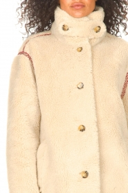 Antik Batik |  Teddy coat with embroided details Sable | brown  | Picture 9