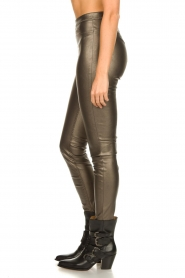 Knit-ted |  Faux leather metallic leggings Amber | metallic  | Picture 5