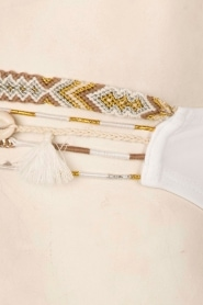 Hipanema | Bandeau bikini Uni | wit  | Afbeelding 5