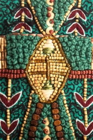 Antik Batik |  Beaded embroidered shoulder bag Mauri | green  | Picture 4