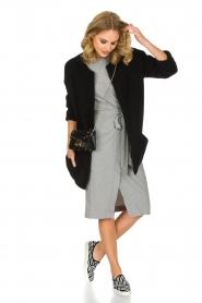 ba&sh | Overslag jurk Clare | Grijs  | Afbeelding 3