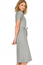 ba&sh | Overslag jurk Clare | Grijs  | Afbeelding 4