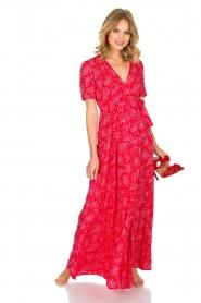 ba&sh | Maxi jurk Coming | Rood  | Afbeelding 2