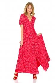 ba&sh | Maxi jurk Coming | Rood  | Afbeelding 3