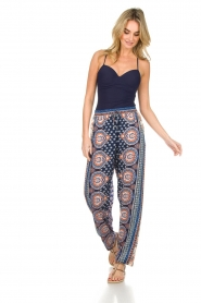 Hale Bob |  Printed wide leg pants Micci | blue  | Picture 3