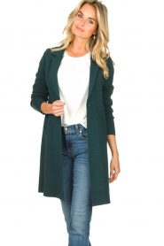 Knit-ted |  Blazer cardigan Sammie | green  | Picture 2