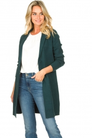 Knit-ted |  Blazer cardigan Sammie | green  | Picture 4