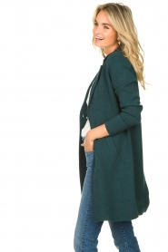 Knit-ted |  Blazer cardigan Sammie | green  | Picture 5