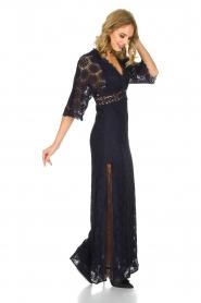 ba&sh | Kanten jurk Lorraine | Blauw  | Afbeelding 8