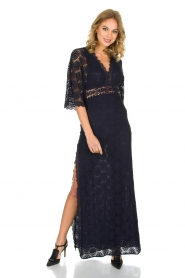 ba&sh | Kanten jurk Lorraine | Blauw  | Afbeelding 6