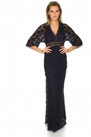 ba&sh | Kanten jurk Lorraine | Blauw  | Afbeelding 2