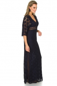 ba&sh | Kanten jurk Lorraine | Blauw  | Afbeelding 3
