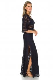 ba&sh | Kanten jurk Lorraine | Blauw  | Afbeelding 4