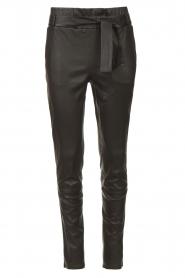 STUDIO AR |  Lamb leather paperbag pants Lotte | black  | Picture 1