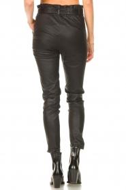 STUDIO AR |  Lamb leather paperbag pants Lotte | black  | Picture 7