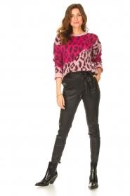 STUDIO AR |  Lamb leather paperbag pants Lotte | black  | Picture 4