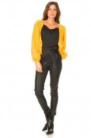 STUDIO AR |  Lamb leather paperbag pants Lotte | black  | Picture 2